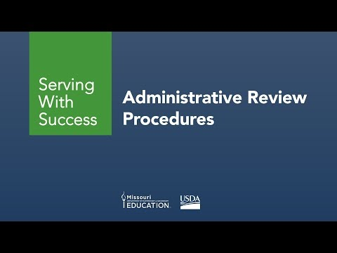 Administrative Review Procedures