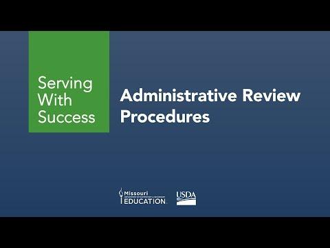 Administrative Review Procedures