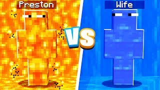 LAVA vs WATER Camo Prank in Minecraft Hide & Seek!