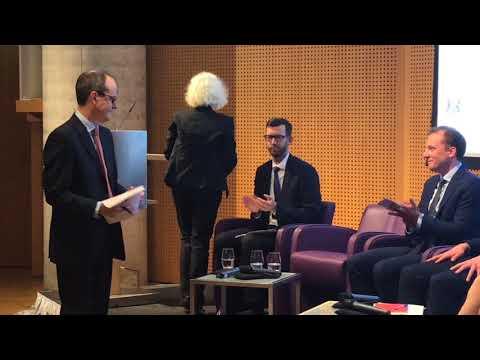 HMA Sir Sebastian Wood and Jane Golding Chair of British in Europe Feb 2018