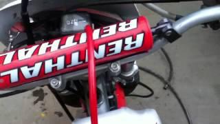 Honda xr250 start up