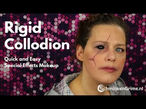 rigid people. how to use mehron rigid collodion scaring liquid people