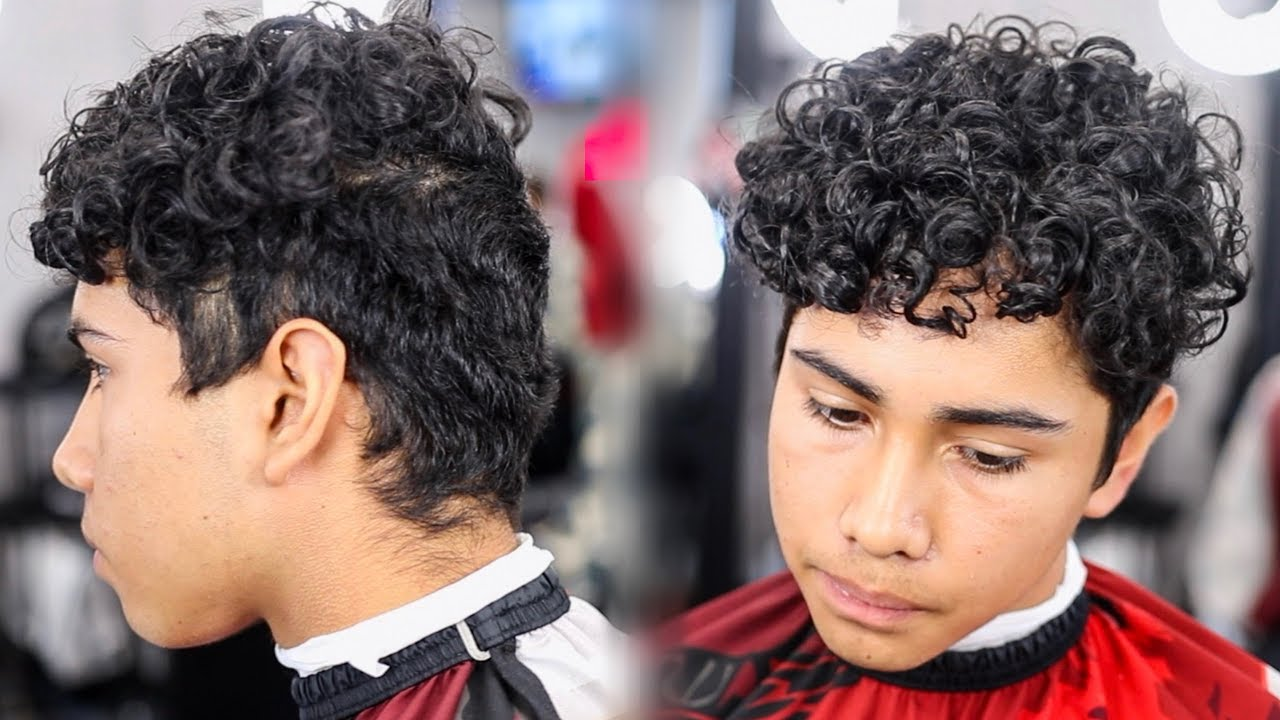haircut tutorial curly hair drop