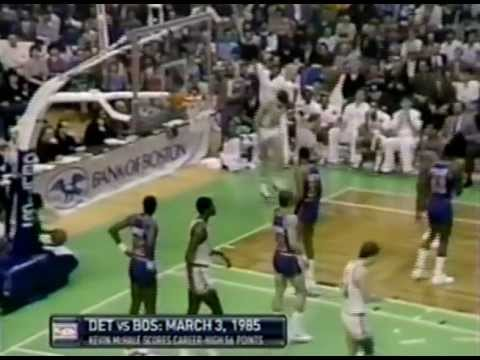 March 3, 1985 Pistons@Celtics (Kevin McHale 56 points 16 rebounds!!!!!!)