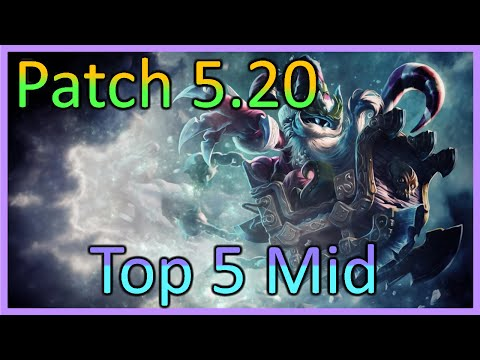 Top 5 Best Adc Champions - Solo Queue - 5 18 LoL Tier List