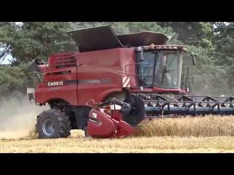 big combine harvester !! Case ih axial 9240
