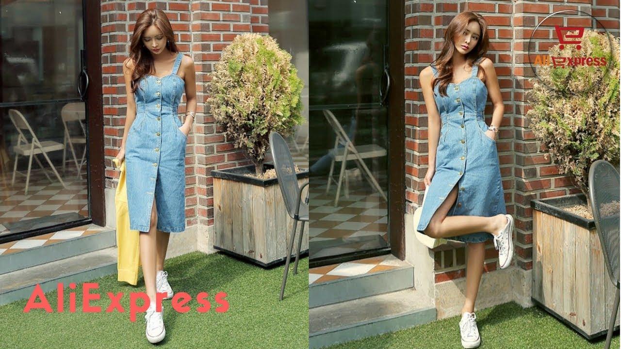 77505d61 Dress From Aliexpress H Han Queen 2018 Sexy Sleeveless Backless Jeans Dress.  Aliexpress Best Female Dresses