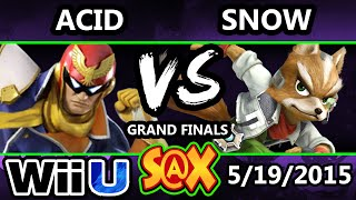 S@X - Acid (Captain Falcon) Vs. Snow (Fox) SSB4 Grand Finals - Smash Wii U - Smash 4