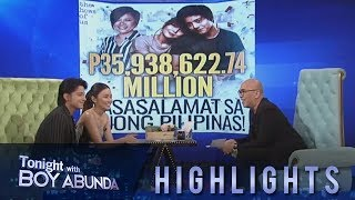 TWBA: KathNiel thank the public for the overflowing support for their movie 'The Hows of Us'