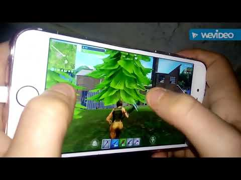 Playing Fortnite On Friends IPhone 6s