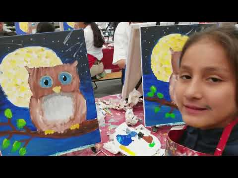 Edison Bethune Charter Academy fifth and sixth grade class painted the Owl