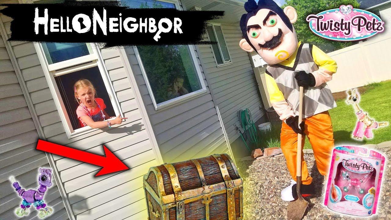 Hello Neighbor in Real Life!!! Twisty Petz Toy Scavenger ...