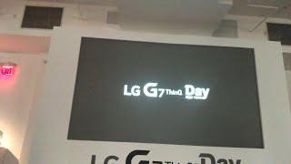 LG G7 thinQ livestream nyc 2018