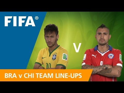 Brazil v. Chile - Team Line-ups EXCLUSIVE