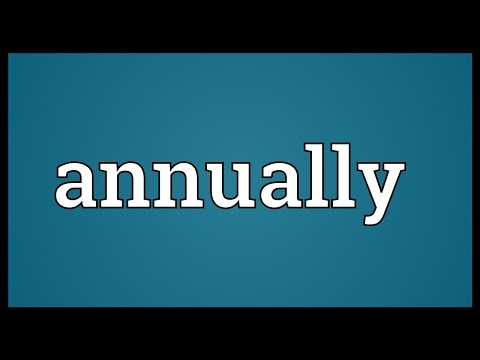 Annually Meaning