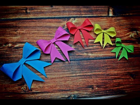 DIY a Paper Bow - Origami Bow -EASY Paper Crafts