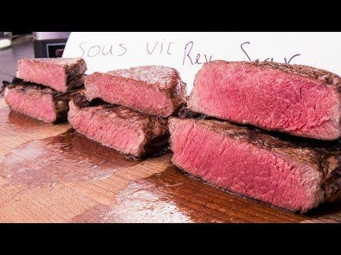 Steak Experiment -- Reversed Sear vs. Sous Vide vs. Frozen