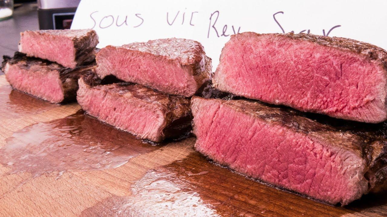 steak experiment reversed sear vs sous vide vs frozen. Black Bedroom Furniture Sets. Home Design Ideas