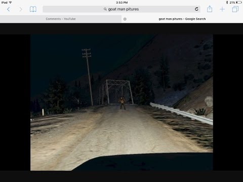 FINDING GOAT MAN ON GTA5 #2 ALSO THE DOOR TO HELL (MUST SEE)