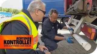 Autodach kann abgerissen werden! Die Gefahr von defekten LKW! | Achtung Kontrolle | kabel eins