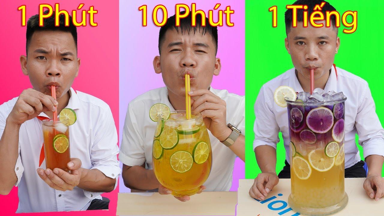 Hưng Troll | Thử Thách Trà Chanh 1 Phút Vs 10 Phút Vs 1 Tiếng - Trà Chanh Nào Ngon Hơn ?