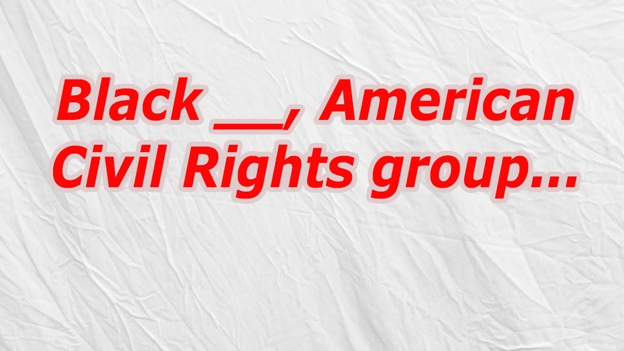 Black, American Civil Rights group (CodyCross Crossword Answer ...