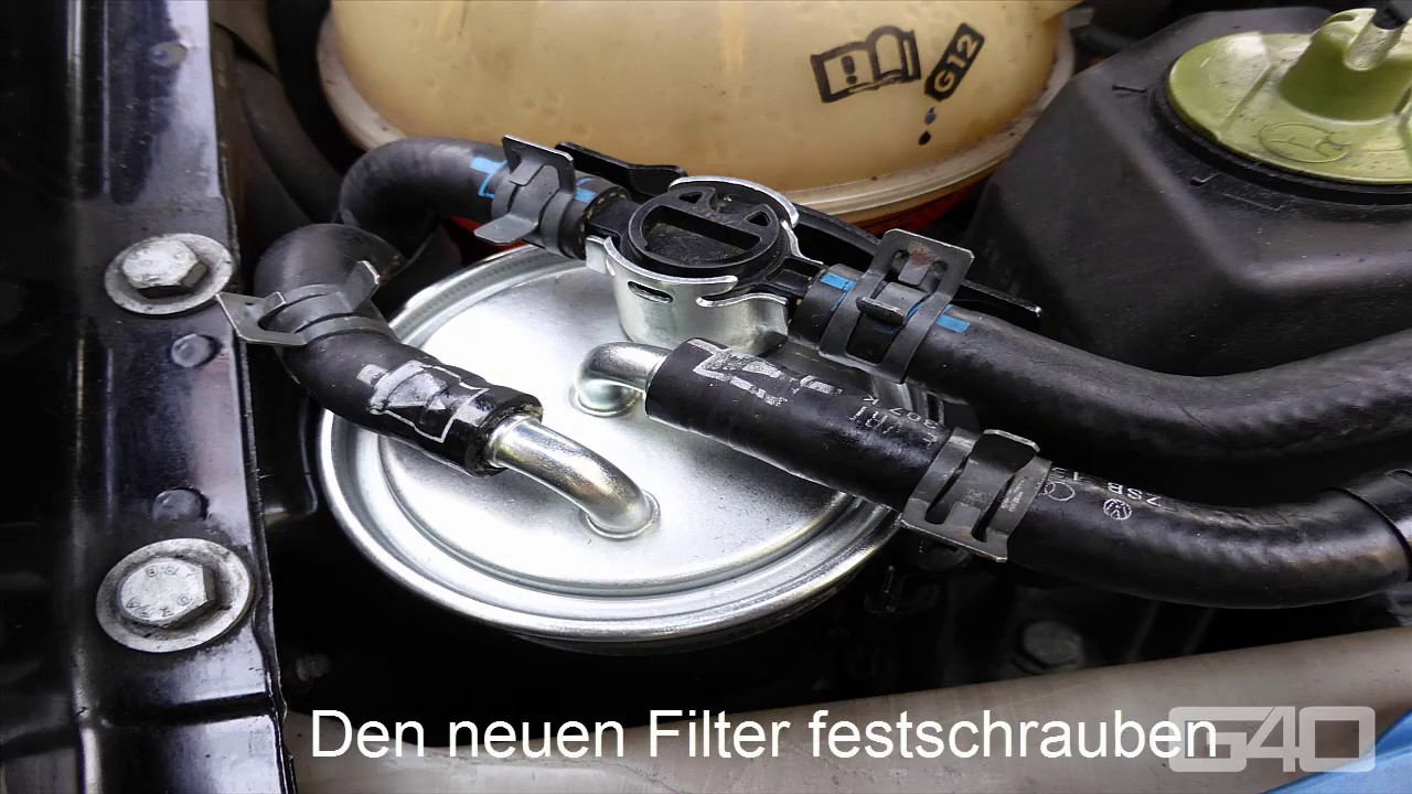 hight resolution of vw golf 4 tdi fuel filter diesel filter swap change how to
