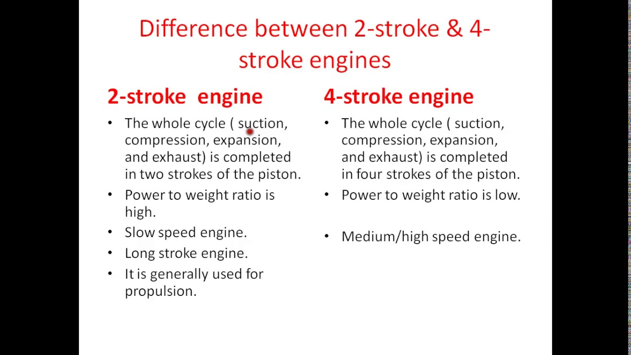 Diference between 2-stroke and 4-stroke marine engines in short