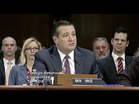 Sen. Cruz Introduces Secretary of State Nominee Rex Tillerson Before Foreign Relations Committee