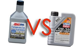 Amsoil 5W30 European Car Formula vs Liqui Moly 5W30 4200 toptec longlife III test