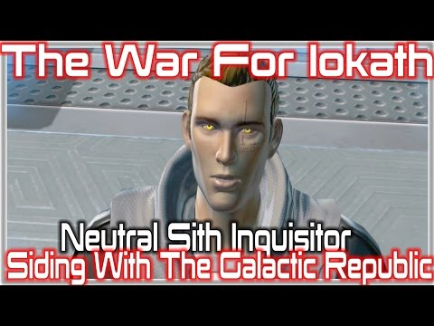 SWTOR, The War For Iokath - Siding With The Galactic Republic,Sith Inquisitor [Neutral]
