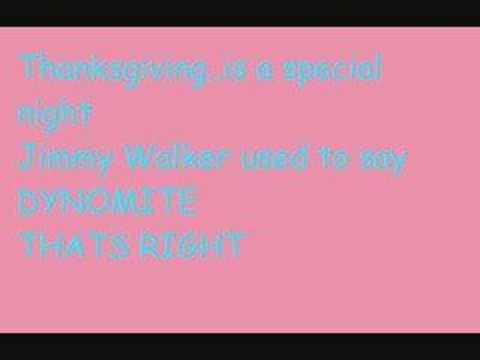 adam sandler lyrics - the thanksgiving song
