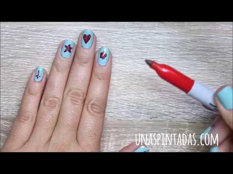 Cómo hacer dibujos fáciles en la decoración de uñas