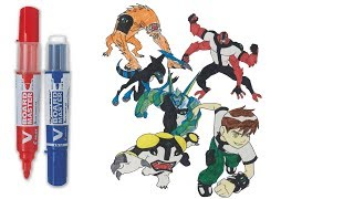 BEN 10 The Strong Alien Mixing | Ben 10 Coloring Pages | SAILANY Coloring Kids