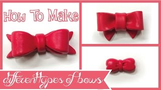 How to make different types of bows _ ribbons polymer clay tutorial