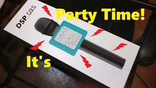 micgeek 魔音大师 dsp q9s wireless bluetooth karaoke microphone speaker unboxing