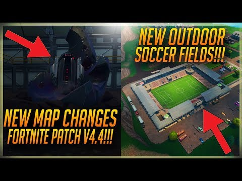 FORTNITE *NEW UPDATE PATCH V4.4 *NEW* MAP LOCATIONS AND CHANGES