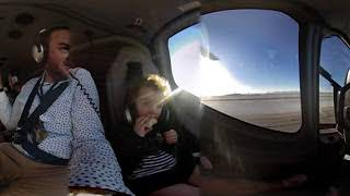 Virtual Reality Helicopter taking off from Las Vegas Vuze 360 VR/3D