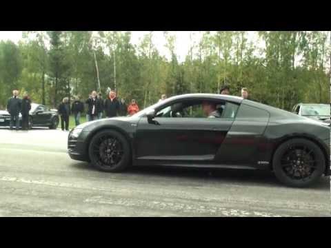ABT Audi R8 V10 5,2 R-tronic vs Ferrari 458 Italia
