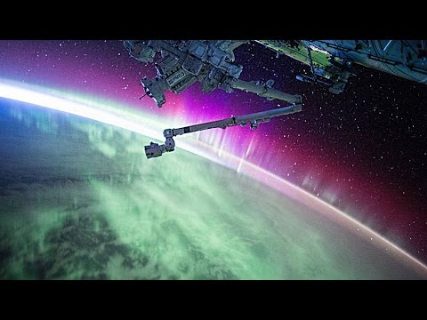 Aurora Light Show As Seen From Orbit