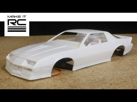 Getting the AMT 1/25 Camaro Body Assembled and Mounted to the RC Chassis (E15)