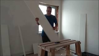 как сделать откосы из панелей