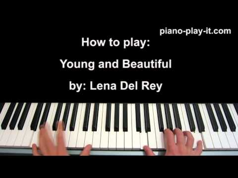 Young and Beautiful Piano Tutorial LANA DEL REY