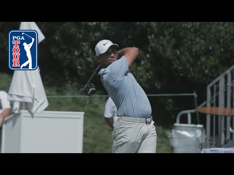 Jason Day's pre-round warm-up routine
