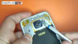 Samsung Galaxy S6 - S7 sostituzione vetro copertura fotocamera principale