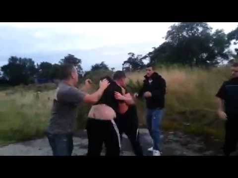 Heavyweight Bareknuckle fight! Traveller vs Traveller 2014 NEW