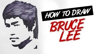 How to draw Bruce Lee Face stencil