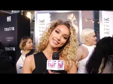 model actress IG star Lauren Wood at the TRAFFIK red carpet on FabTV