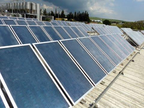 TIGI solar thermal collectors installation at Golan Wineries