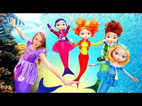 Принцесса София иСказочный Патруль вподводном царстве— Куклы ивидео игры для девочек